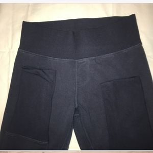 Lululemon Cotton Navy Gym John tights